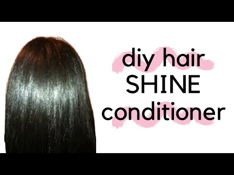 Get SHINY HAIR Homemade Deep Conditioner Using