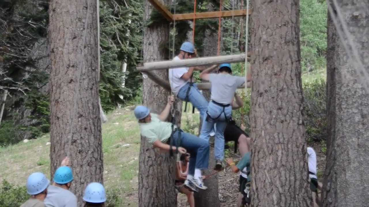 Team Building Activity Ropes Course In Reno Lake Tahoe Youtube