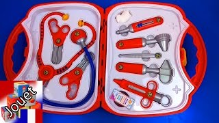 malette de docteur pour enfants de Klein-des instruments de médecin Unboxing