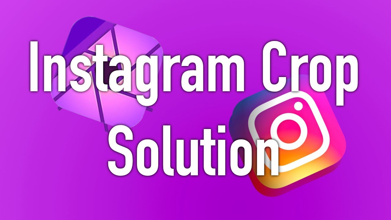 Instagram Crop Solution! w/ Affinity Photo using iPad Pro