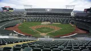O.co Coliseum Conversion Time Lapse Video Final Production Athletics to Raiders 10.5.13 - 10.6.13