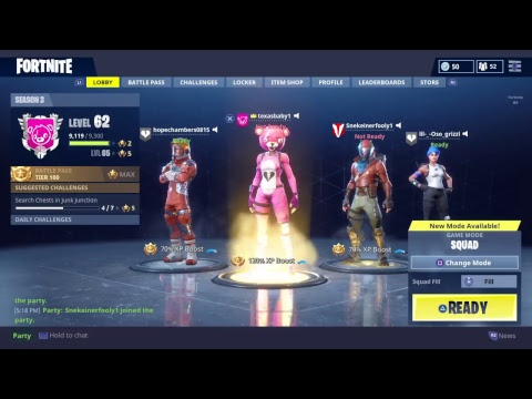 Fortnite squad with family
