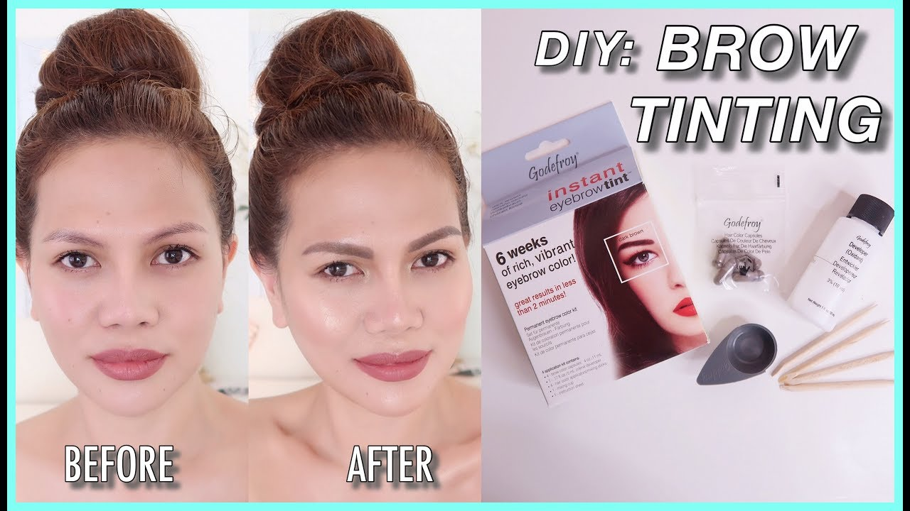 Brow Tinting At Home Godefroy Instant Eyebrow Tint Review And