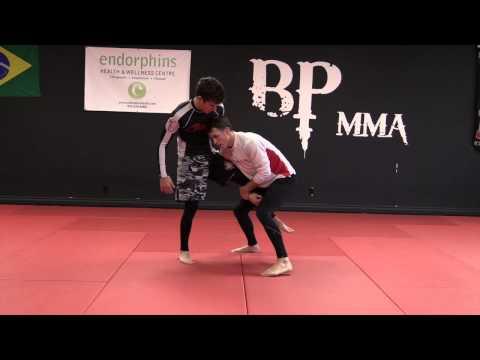 Chris Prickett Wrestling For MMA: Chest Pressure Single Leg