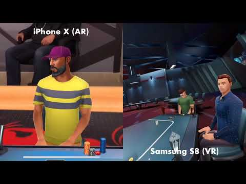 Social AR - VR Cross Platform Test - Poker VR