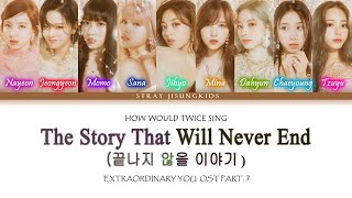 """How Would Twice Sing Stray Kids """"끝나지 않을 이야기  The Story That Will Never End """""""
