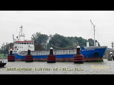 coaster BALTIC MERCHANT ZDFP2 IMO 9138202 Emden cargo seaship merchant vessel KüMo Seeschiff