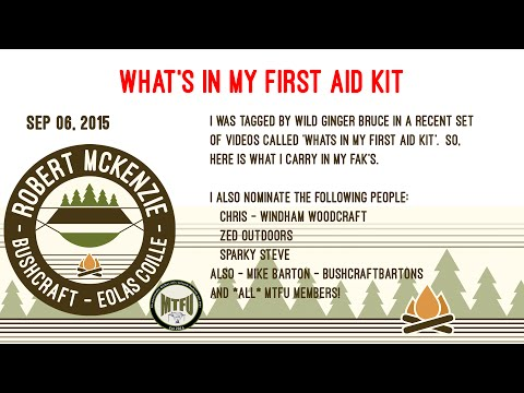 Whats in my First Aid Kit