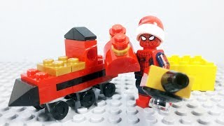 Lego Spiderman Brick Building Train For Kids Stop Motion Animation