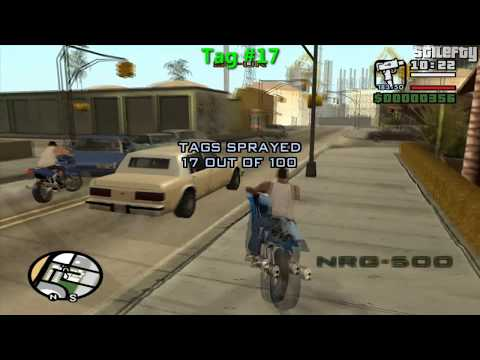 GTA San Andreas - 100 Tags Guide