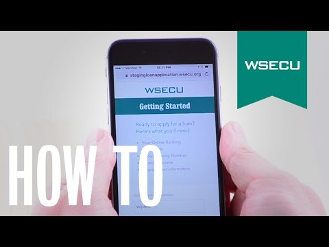 WSECU - How To - Mobile Lending Application