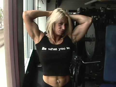 Muscle blonde woman
