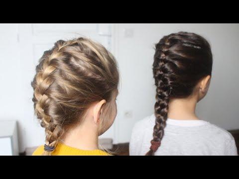 tuto coiffure: comment faire une tresse collée à une petite fille ✨ marion  blush