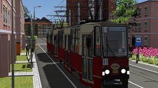 LET`S PLAY Train SImulator 2014 / Tram Konstal 105Na auf Linie 1