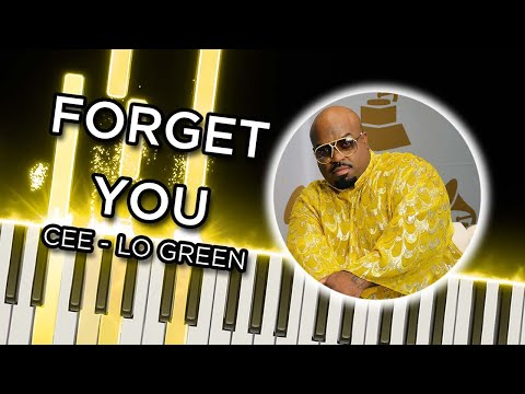 Forget You CeeLo Green  Piano Tutorial