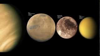 Size comparison of all the planets, moons and asteroids HD