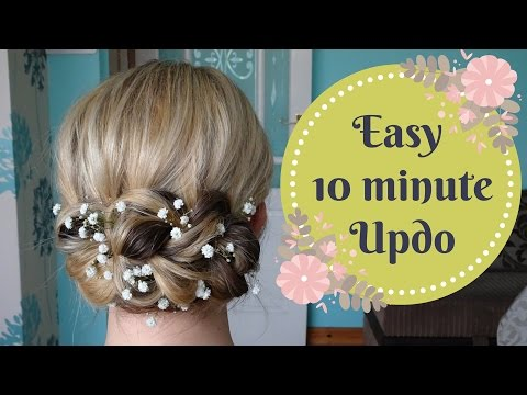 Easy Pull Through Braid Updo Hair Tutorial