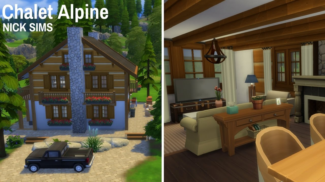 Chalet Alpine The Sims 4 House Tour Simmernick Youtube