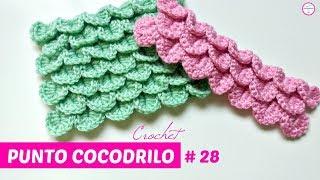 Hoy aprendemos a tejer un punto a crochet con mucho volumen, punto cocodrilo con escamas. ❤Para no perderte ningún tutorial SUSCRÍBETE: ...
