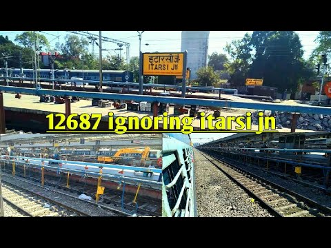 One of The biggest Skip In MP!! || 12687 Madurai Chandigarh Express Ignore ITARSI Junction