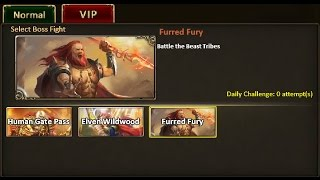 Rise of Mythos - How to Beat Furred Fury VIP Boss (Non-VIP Guide)