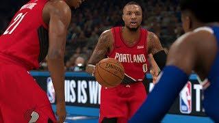 NBA Today 1/1 New York Knicks vs Portland Trailblazers Full Game Highlights | NBA 2K
