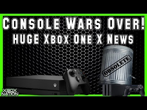 Console Wars Over! Xbox One X Gets New Power Increase! Exciting New Xbox One Exclusive Game Coming!
