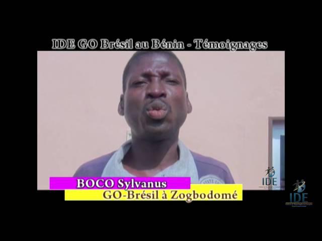Testemunho Boco Projeto Benin  - IDE GO