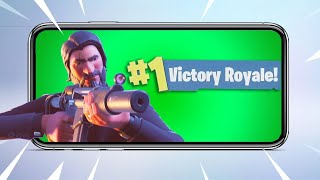 Fortnite on iOS Battle Royale Victory Gameplay