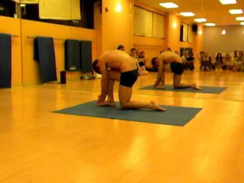 griffin peddicord's yoga demonstration  bikram yoga