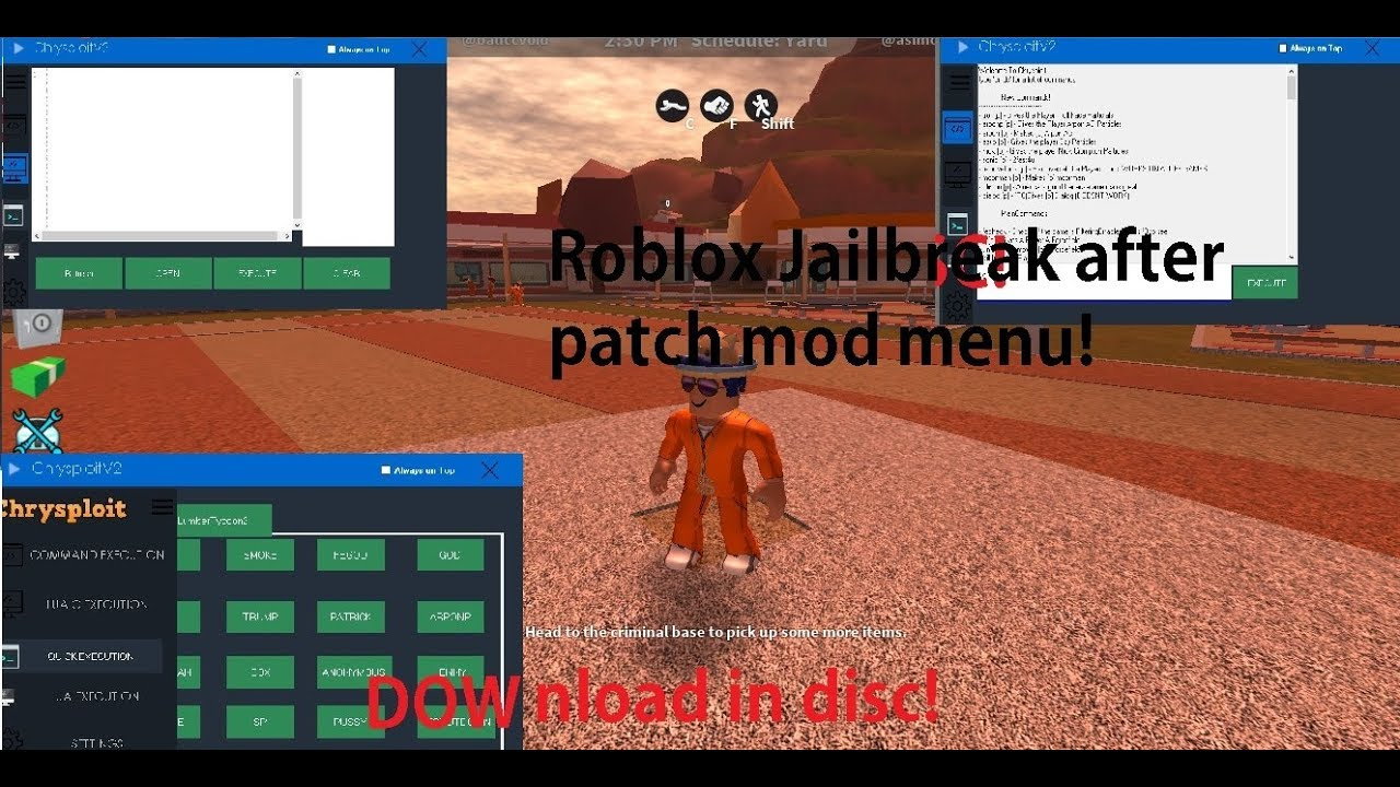 Roblox Jailbreak Mod Menu Free Download Youtube
