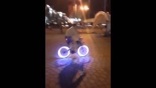 Велосипед-лампочка в Минске, Bike-Light in Minsk