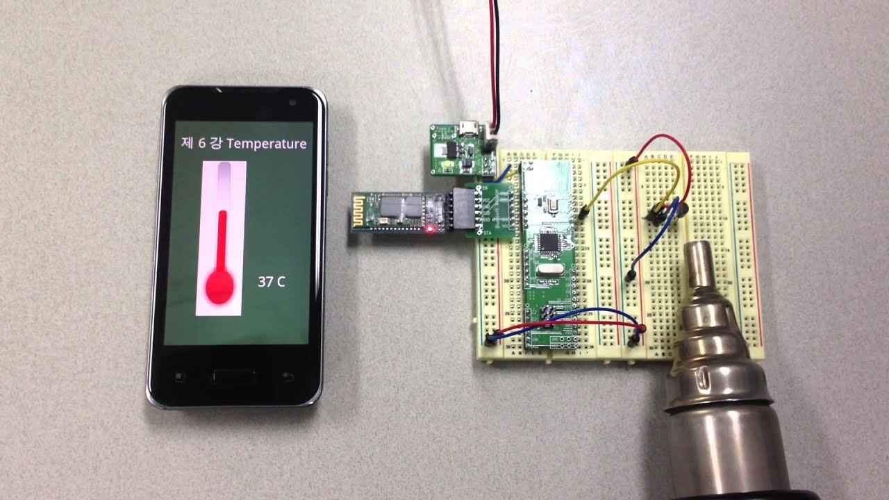 Arduino bluetooth android phone project quot temperature