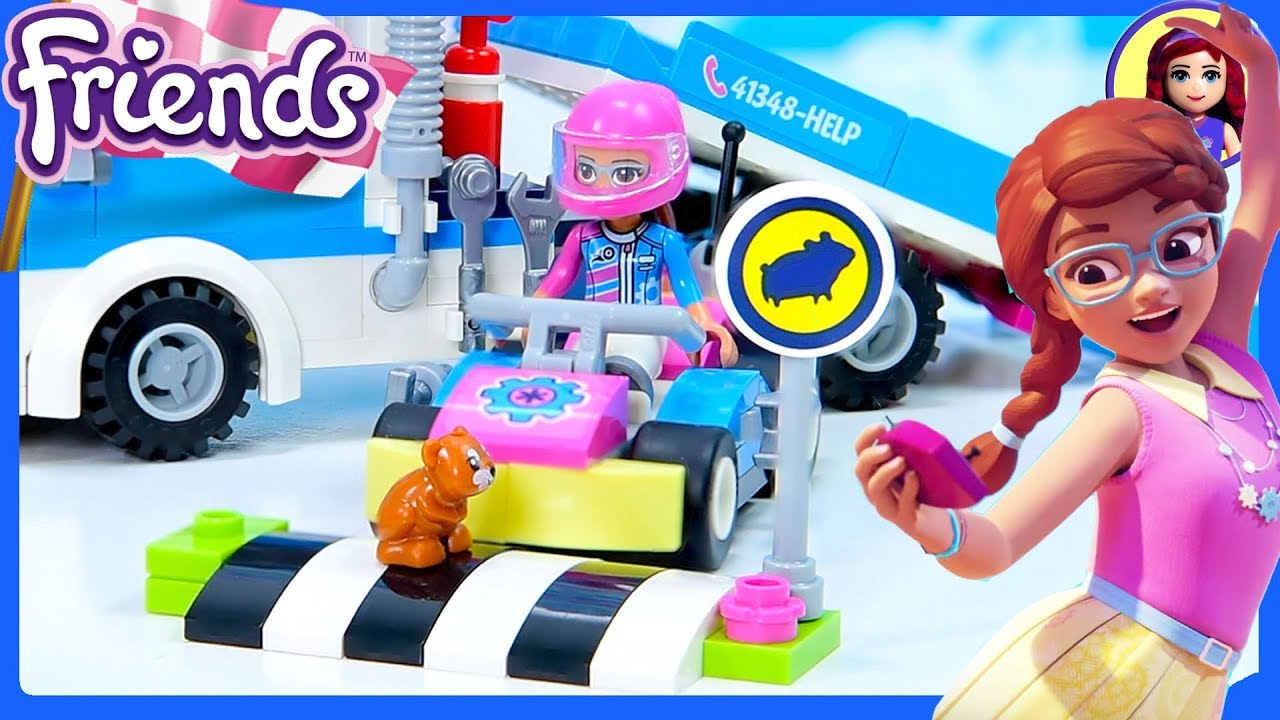 Lego Friends Service Care Truck Build Silly Play Youtube