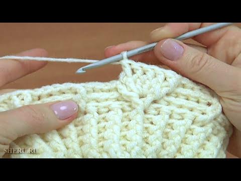 Вязание крючком шапки. Урок 178