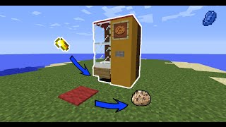 Minecraft : How to make a working Vending Machine