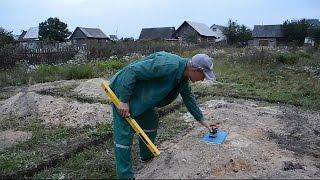 Фундамент для дома своими руками ч.4(В ролике показано как и на какую глубину копать траншею под фундамент для дома из полистиролбетона,что..., 2014-09-25T21:38:21.000Z)