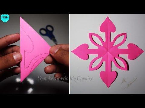 DIY Home Decor - Membuat Hiasan Dinding Dekorasi dari Kertas | Paper Snowflakes Ideas