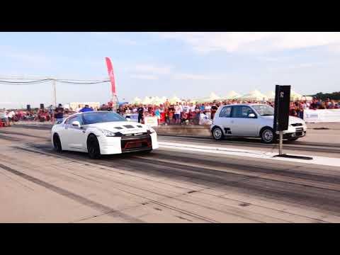 VW LUPO 2.0TDI 4x4 500HP 10.8 vs NISSAN GTR-R35 1000HP 9.7
