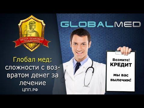 Медицинские споры►Возврат денег за медицинские услуги (ГобалМед)