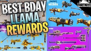FORTNITE - Birthday Llama Tips And Rewards (Best Event Heroes And Weapons From Year 1)