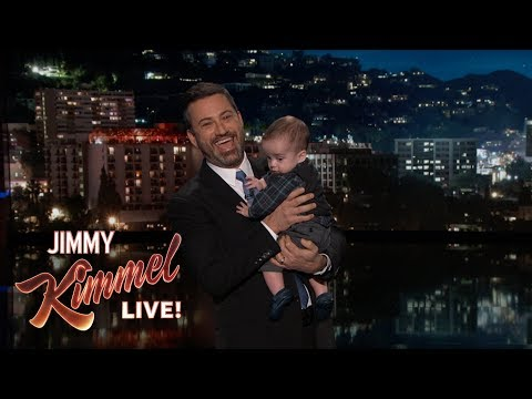 Jimmy Kimmel Returns with Baby Billy After Heart Surgery: Jimmy's baby Billy had his second open heart surgery last week so Jimmy had guest hosts fill in for him while he was out. Thankfully the surgery was a success and Jimmy returned to the show tonight with Billy in tow to show everyone how well he is doing. Jimmy thanks the bright and talented doctors and nurses at Children's Hospital LA. He has to have one more surgery when he is around six years old and then he is good to go. However, the fight is not over for millions of children whose health is threatened right now because a program called CHIP (Children's Health Insurance Program), that is there to protect them, is in serious need of funding because Congress recently failed to approve funding for it. This is not a partisan issue. Democrats and Republicans have always overwhelmingly supported it – until now. Now it's being used as a bargaining chip. So Jimmy is encouraging everyone to call the House and Senate at (202) 225-3121 to tell them to take a break from tax cuts and fully fund CHIP now. Also, if you don't have health insurance make sure to go to healthcare.gov and sign up before the December 15th deadline. #FundCHIPNow  Melissa McCarthy vs. Jennifer Aniston – The Great Gravity Debate https://youtu.be/ncHhjUllA7s   SUBSCRIBE to get the latest #KIMMEL: http://bit.ly/JKLSubscribe   Watch Mean Tweets: http://bit.ly/KimmelMT10   Connect with Jimmy Kimmel Live Online:   Visit the Jimmy Kimmel Live WEBSITE: http://bit.ly/JKLWebsite Like Jimmy Kimmel on FACEBOOK: http://bit.ly/KimmelFB Like Jimmy Kimmel Live on FACEBOOK: http://bit.ly/JKLFacebook Follow @JimmyKimmel on TWITTER: http://bit.ly/KimmelTW Follow Jimmy Kimmel Live on TWITTER: http://bit.ly/JKLTwitter Follow Jimmy Kimmel Live on INSTAGRAM: http://bit.ly/JKLInstagram   About Jimmy Kimmel Live:   Jimmy Kimmel serves as host and executive producer of Emmy-winning