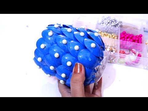 DIY Diwali/Christmas Home Decoration Ideas : How to Decorate Diwali Diya Stand from Plastic Spoons?