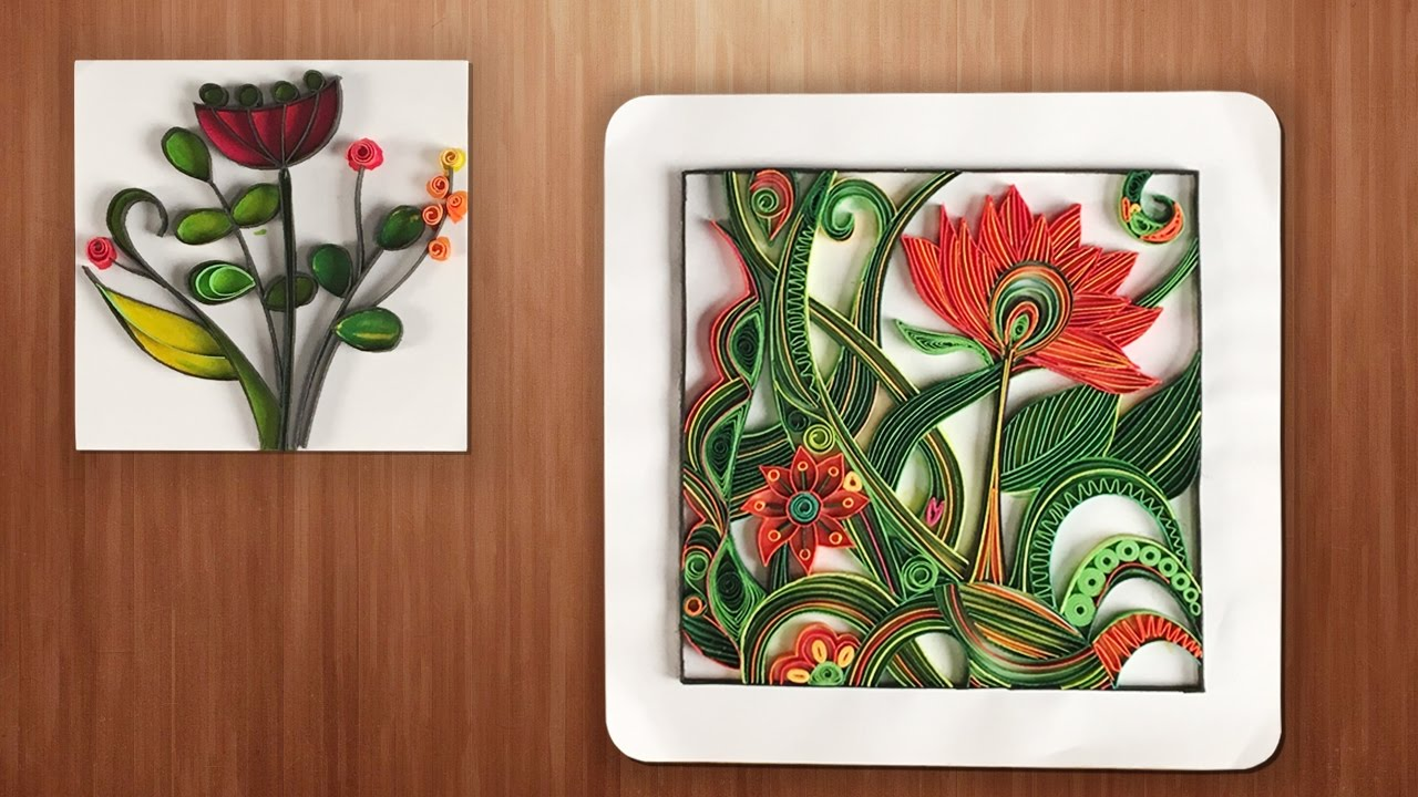 Quilling designs wall decorating ideas diy paper Wall art paper designs