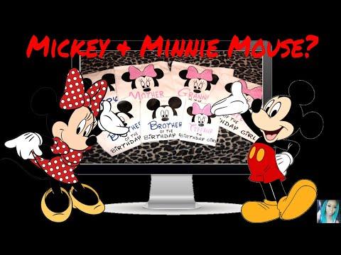 HTV Mickey & Minnie Mouse Shirt | Cricut Explore Air 2 | Design Space