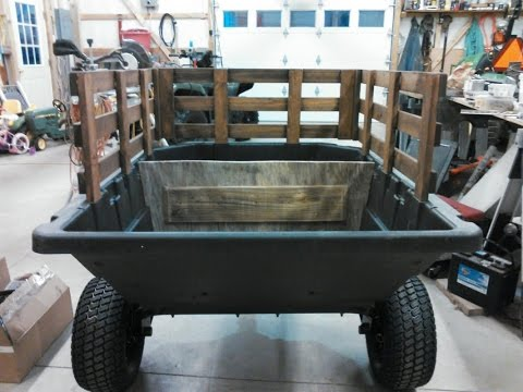 My New ATV Dump Cart / Wagon Project By Ohio Steel Industries With KVUSMC