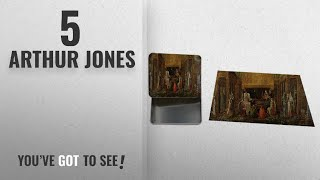 "Top 10 Arthur Jones [2018]: Death Of King Arthur (Jones) Metal Tin Trinket Box (4""x6"") & Jigsaw"