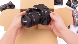 Canon 80D Unboxing & Review of what's inside the box