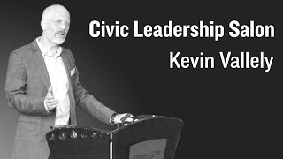 Kevin Vallely Speaks At  The  Civic Leadership Salon