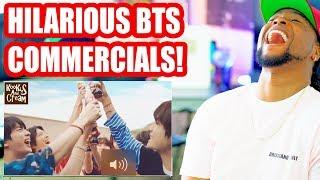 BTS In Commercials Compilation | Funny AF | Reaction!!!